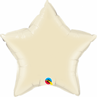 Balon folie metalizat stea pearl ivory - 50 cm, Qualatex