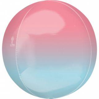 Balon folie Ombre Orbz Pink & Blue