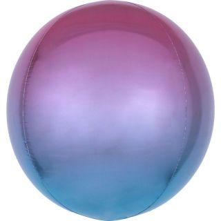 Balon folie Ombre Orbz Purple & Blue - 38 x 40 cm