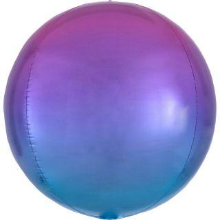 Balon folie Ombre Orbz Red & Blue - 38 x 40 cm