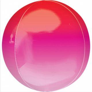 Balon folie Ombre Orbz Red & Pink