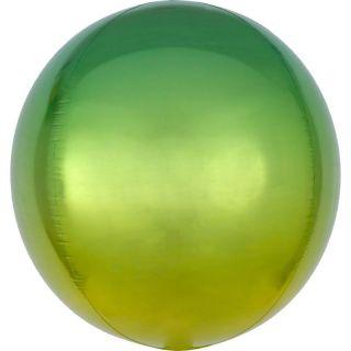 Balon folie Ombre Orbz Yellow & Green - 38 x 40 cm