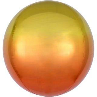 Balon folie Ombre Orbz Yellow & Orange - 38 x 40 cm