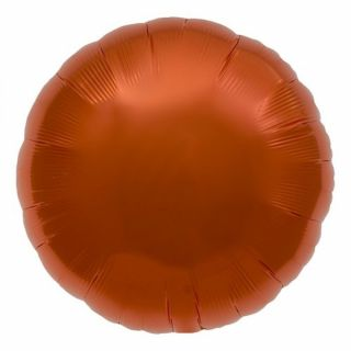 Balon folie orange metalizat rotund - 45cm, Northstar Balloons 00738