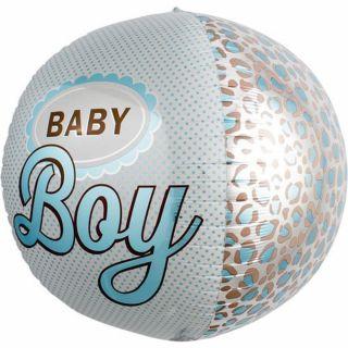 Balon folie orbz sfera Baby Boy - 43cm, Northstar Balloons