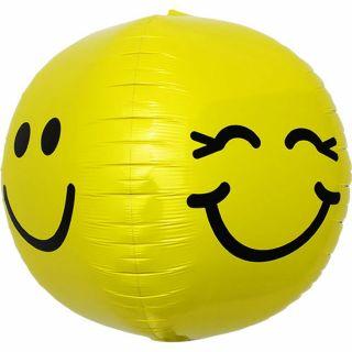 Balon folie orbz sfera Smiley Face - 43 cm, Northstar Balloons