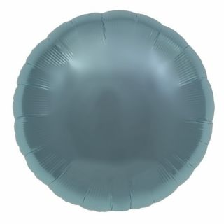 Balon folie pastel blue metalizat rotund - 45cm, Northstar Balloons 00736