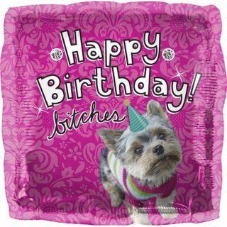 Balon folie patrat Happy Birthday Dog - 45cm, Northstar Balloons