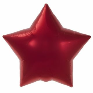 Balon folie rosu metalizat stea - 45cm, Northstar Balloons 00372