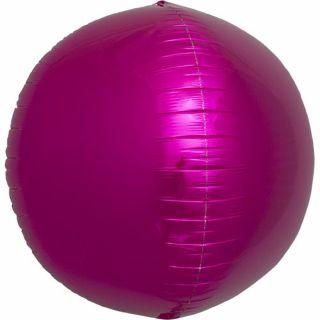 Balon folie sfera magenta metalizat 3D - 43cm, Northstar Balloons