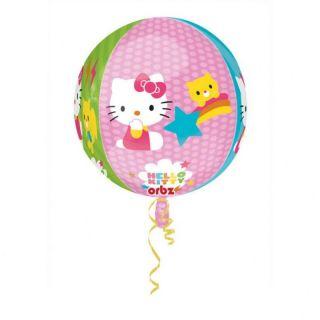 Balon Folie Sfera Orbz Hello Kitty - 43 x 45 cm, Amscan