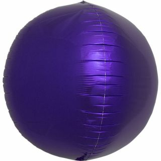 Balon folie sfera purple metalizat 3D - 43cm, Northstar Balloons
