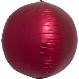 Balon folie sfera rosu metalizat 3D - 43cm, Northstar Balloons