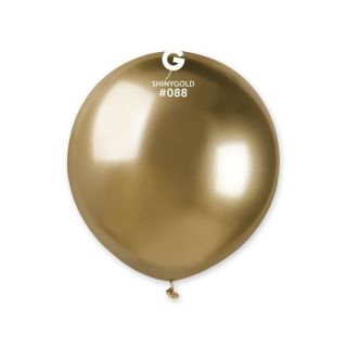Balon Latex Jumbo Shiny Gold- 48 cm, Gemar GB150.88, set 5 buc
