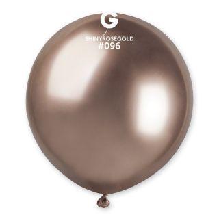 Balon Latex Jumbo Shiny Rose Gold- 48 cm, Gemar GB150.91, set 5 buc