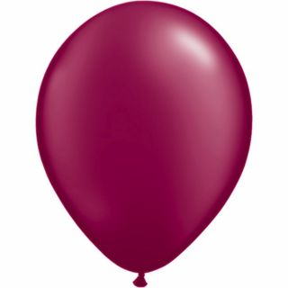 Balon Latex Pearl Burgundy 5 inch (13 cm), Qualatex , set 100 buc
