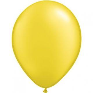 Balon Latex Pearl Citrine Yellow 5 inch (13 cm), Qualatex 43580, set 100 buc