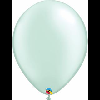 Balon Latex Pearl Mint Green, 16 inch (41 cm), Qualatex