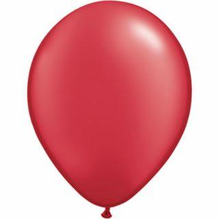 Balon Latex Pearl Ruby Red 5 inch (13 cm), Qualatex , set 100 buc
