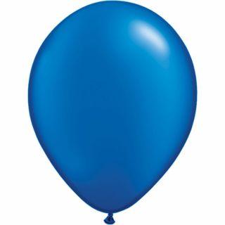 Balon Latex Pearl Sapphire Blue 16 inch (41 cm), Qualatex