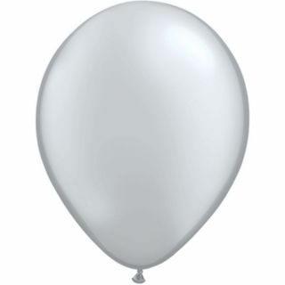 Balon Latex Silver 16 inch (41 cm), Qualatex