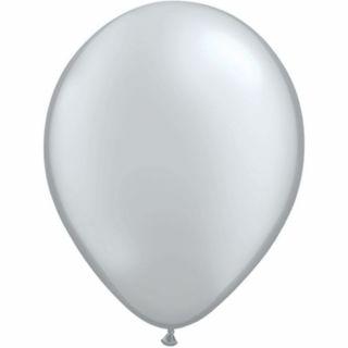 Balon Latex Silver 5 inch (13 cm), Qualatex , set 100 buc