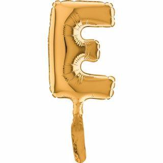 Balon micro folie litera E aurie - 18cm, Radar 07242