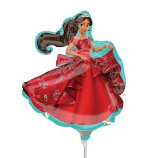 Balon mini figurina Elena of Avalor - umflat + bat si rozeta, Amscan 33203