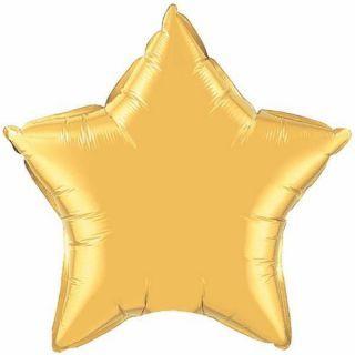 Balon Mini Folie Stea Gold - 23 cm