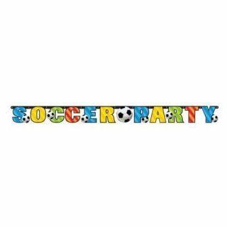 Banner decorativ pentru petrecere 1.98 m, Soccer Party, Amscan, 1 buc