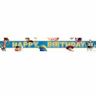 Banner decorativ pentru petrecere 4.65 m, Toy Story Happy Birthday, Amscan, 1 buc