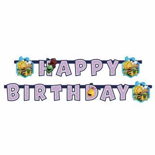 Banner decorativ petrecere - 1.8 m, Happy Birthday Albinuta Maya, Amscan, 1 buc