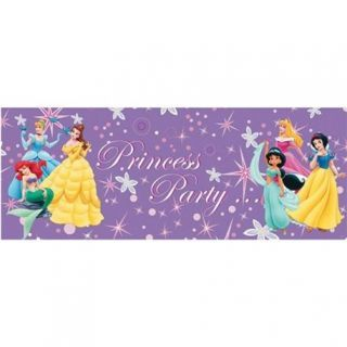 Banner decorativ petrecere Printese Disney - 1.3 m, Radar