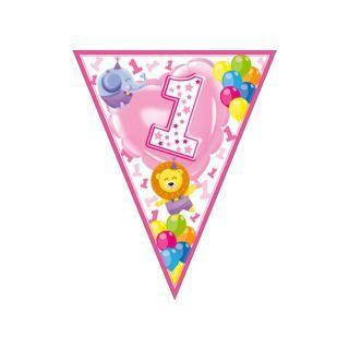 Banner fanioane animalute 1st birthday roz - 3.6 m, Radar