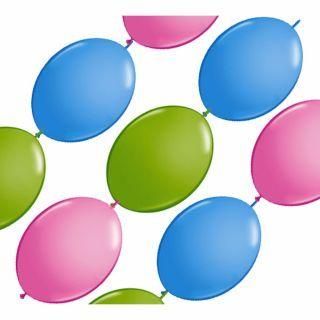 Banner Party din baloane latex asortate - 3m, Qualatex