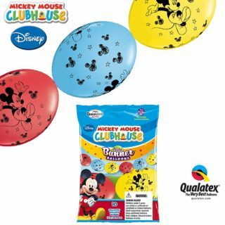 Banner Party din baloane latex Mickey Mouse - 3m, Qualatex 15101