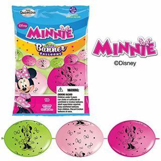 Banner Party din baloane latex Minnie Mouse - 3m, Qualatex 15054