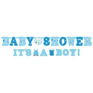 Bannere decorative , Baby shower - It's a boy, Amscan, set 2 buc
