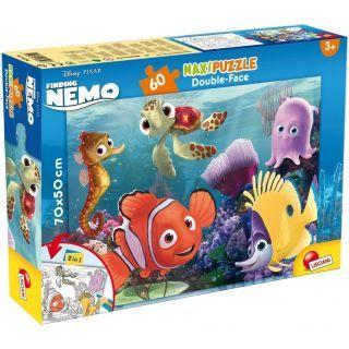Puzzle de colorat maxi - Nemo si prietenii (60 piese)