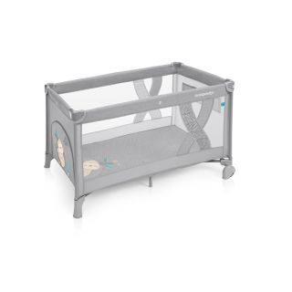 Baby Design Simple patut pliabil - 07 Light Grey 2019
