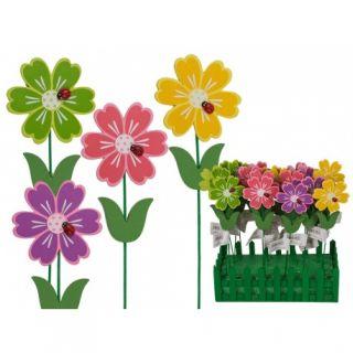 Betisoare decorative ghiveci - ca. 4 x 27 cm, Radar 137162, diverse culori, 4 buc/set