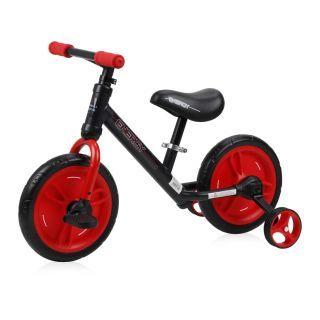 Bicicleta Energy, cu pedale si roti ajutatoare, Red