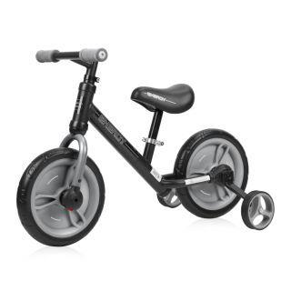 Bicicleta Energy, cu pedale si roti ajutatoare, Grey