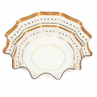 Bol ornamental transparent/auriu pentru petrecere - 16 x 4.5 cm, Radar