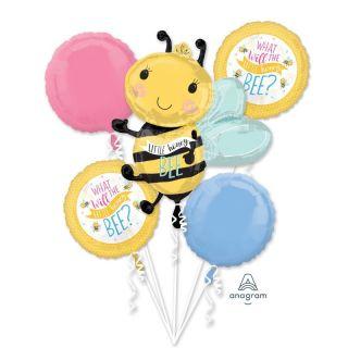 Buchet Baloane Baby Shower - What Will It Bee?, Radar, set 5 bucati