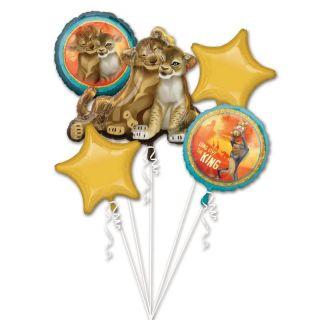Buchet baloane folie Lion King , A 39877, set 5 buc
