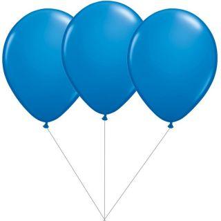 Buchet din 3 baloane latex albastre cu heliu, Gemar BB.G90.BLUE