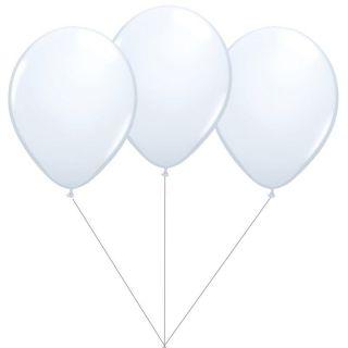 Buchet din 3 baloane latex albe cu heliu, Gemar BB.G90.WHITE