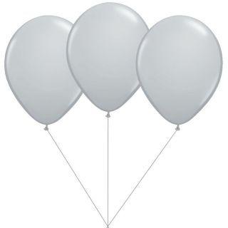 Buchet din 3 baloane latex argintii cu heliu, Gemar BB.G90.SILVER