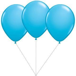 Buchet din 3 baloane latex bleu cu heliu, Gemar BB.G90.LIGHTBLUE